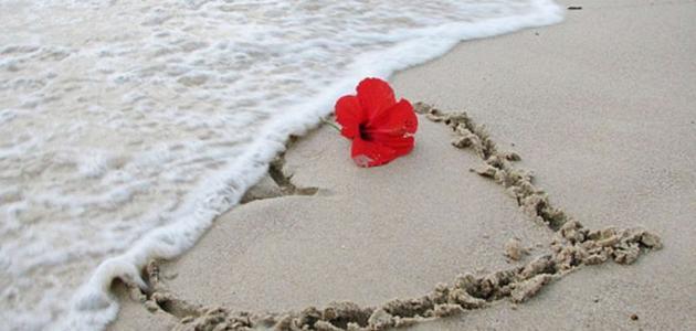 صورة كلمات عن البحر والحب , اقول و عبارات عن الحب و البحر