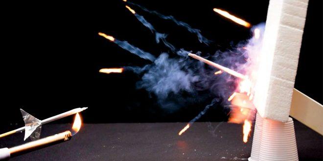 صور كيف تصنع صاروخ من الكبريت , ابداعات من اشياء صغيره