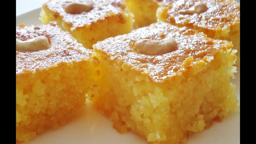 صورة طريقة عمل هريسة الذرة , حلويات شرقية روعه 2670