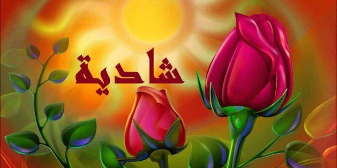 صور معنى اسم شاديه , معاني اسماء البنات