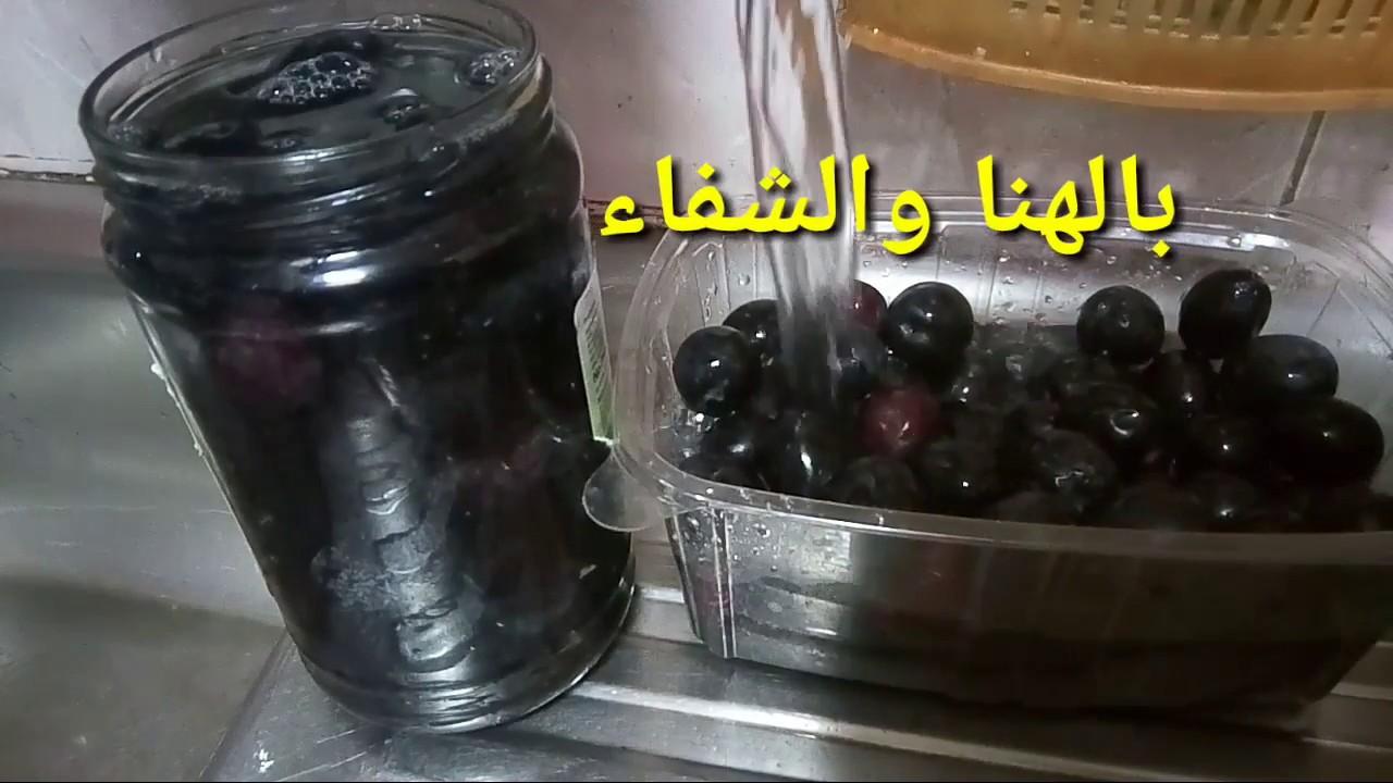 صورة طريقة كبس الزيتون الاسود على الطريقة الفلسطينية , اطعم واشهي زيتون مخلل