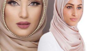 صورة لفات حجاب للمناسبات بالخطوات , لفات طرح روعه للمححبات