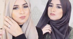 صورة لفات حجاب عصرية , اشكال لف طرح بطريقة عصرية