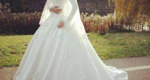فساتين زفاف محجبات محتشمة , صور فساتين شيك للعرائس