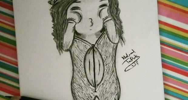 صورة رسم بنات صغار , اريد ان اتعلم الرسم