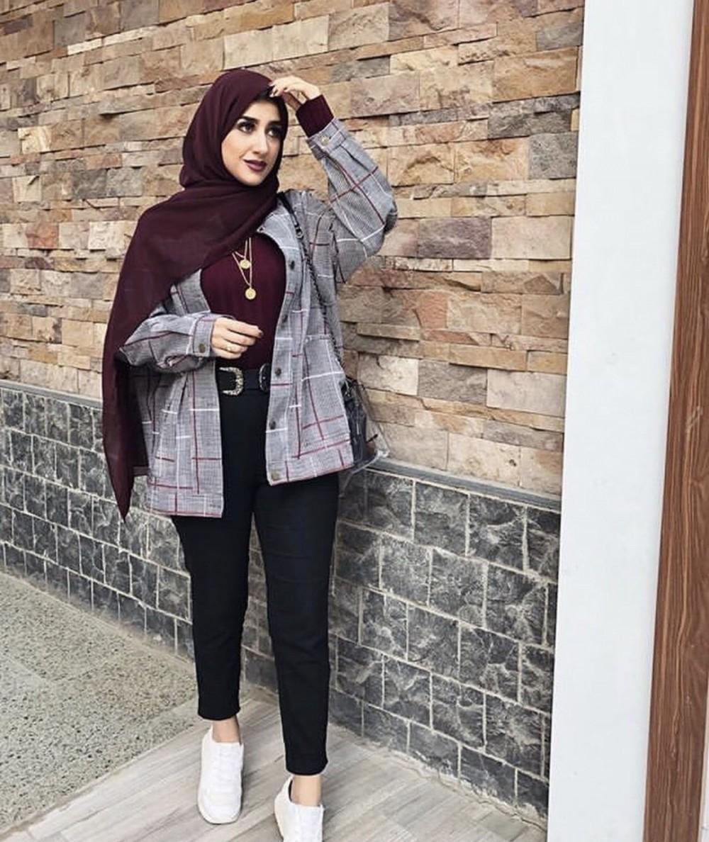 صورة موضه 2019 محجبات , ستتميزى بهذا الحجاب الانيق