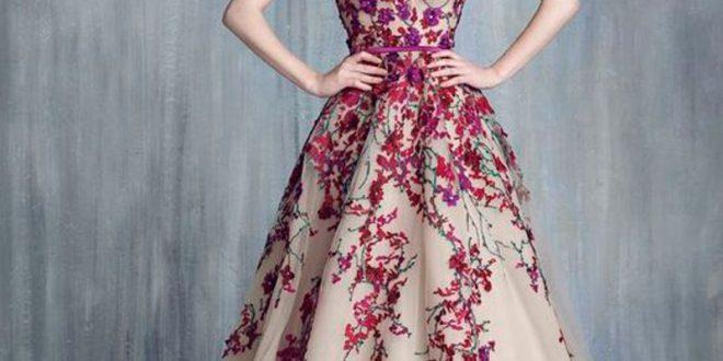 صورة فساتين سهرة طويله , فستان و لا اجمل