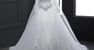 فساتين اعراس ابيض , فستان الزفاف و الطرحة