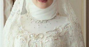 صورة لفات طرح زفاف , تمتعي باطلالة الاميرات يوم زفافك
