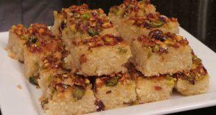 حلويات شامية مشهورة , طريقة عمل الهريسه