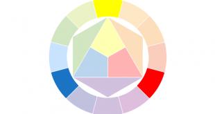 صورة لون مكون من اربع حروف , من الالوان الباردة و الدافئة