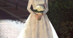 صور فساتين زفاف للمحجبات , اطلالة مميزة وفريدة للبنات