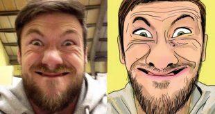 صورة حول صورتك الى رسم كرتوني , معنا حول صورتك لكرتون
