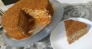 صورة طريقة كيكة العسل الروسية , تعرف على ميدوفيك