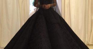 فستان عرس اسود , تالقى باطلاله مميزه يوم زفافك