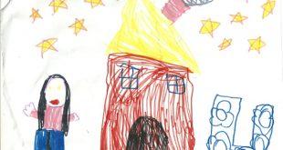 صورة رسم الاطفال على الورق , موهبه جميله عند الاطفال