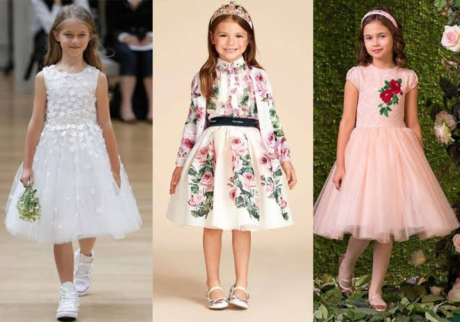 صورة فساتين حفلات للاطفال , ملابس اطفال وفساتين شيك