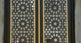 صورة ديكورات ابواب حديد , اجمل اشكال للبوابات الحديديه