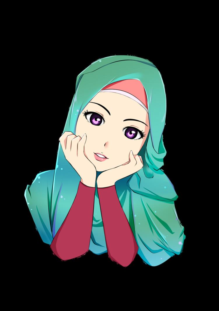 صورة صور انمي محجبات , حجاب كالحقيقي تماما