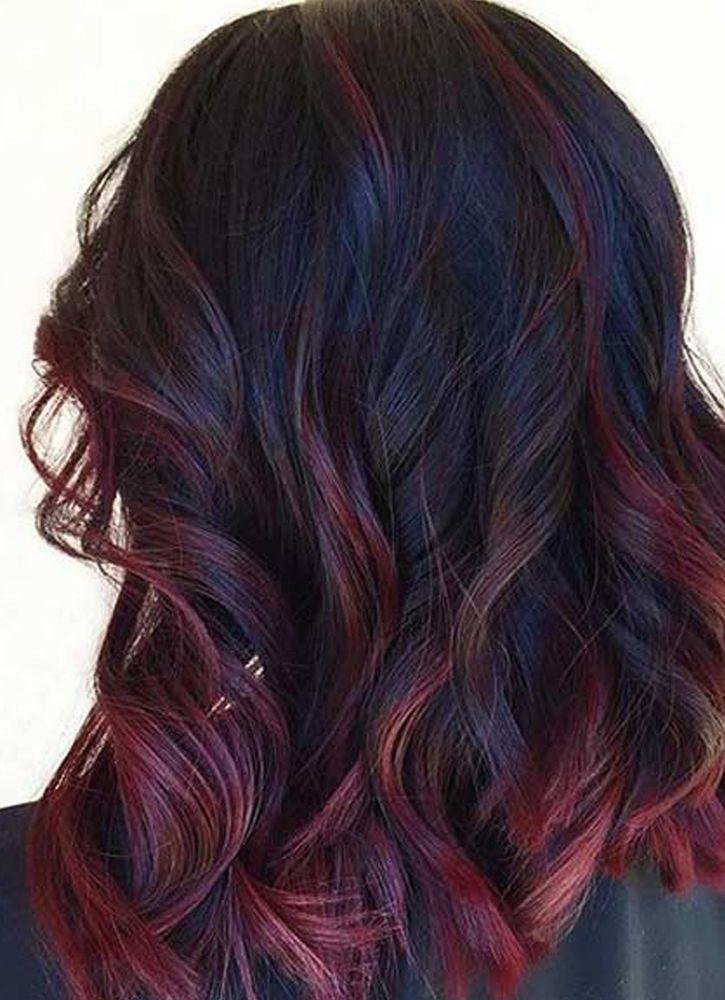 صورة طريقة صبغ الشعر باللون الاحمر البرغندي , تمتعي بمظهر جرئ وجذاب
