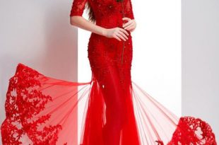 صورة صور اجمل فستان , صور أجمل فستان سهرة دانتيل ناعم