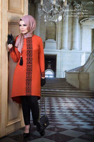 صورة تألقي بأشيك موديلات الحجاب التركي 2020 , لباس المحجبات تركي