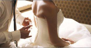 العروسة والعريس فى غرفة النوم
