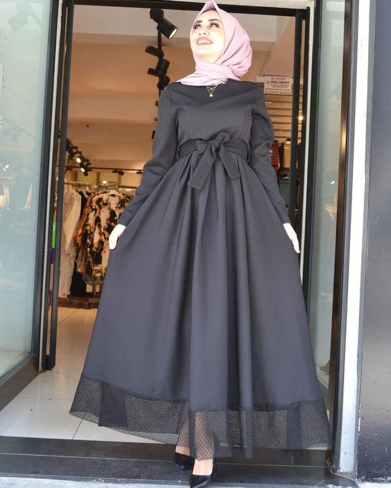 صورة اجمل فساتين المحجبات،زيدى من جمال حجابك مع هذه الازياء 6198 1