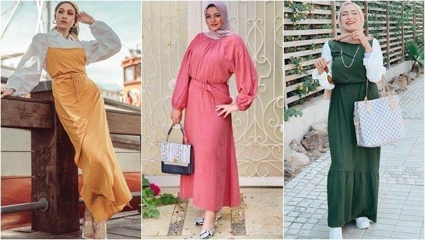 صورة اجمل فساتين المحجبات،زيدى من جمال حجابك مع هذه الازياء 6198 2