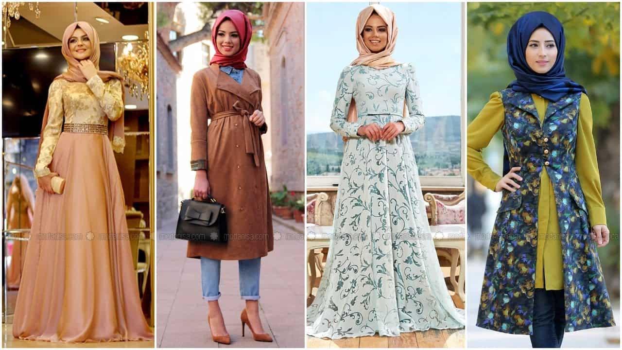 صورة اجمل فساتين المحجبات،زيدى من جمال حجابك مع هذه الازياء 6198 3