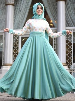صورة اجمل فساتين المحجبات،زيدى من جمال حجابك مع هذه الازياء 6198 4