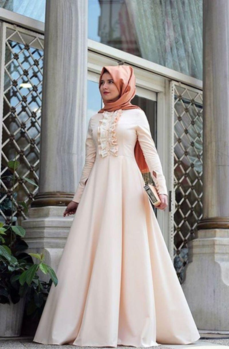 صورة اجمل فساتين المحجبات،زيدى من جمال حجابك مع هذه الازياء 6198 6
