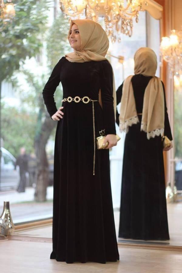 صورة اجمل فساتين المحجبات،زيدى من جمال حجابك مع هذه الازياء 6198 7