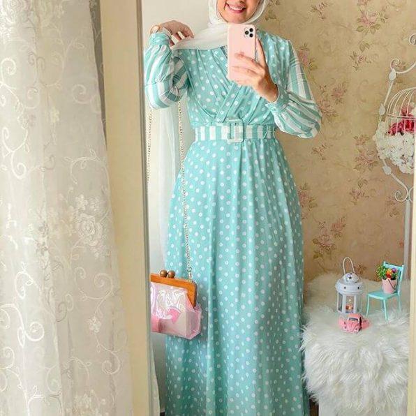 صورة اجمل فساتين المحجبات،زيدى من جمال حجابك مع هذه الازياء 6198 8
