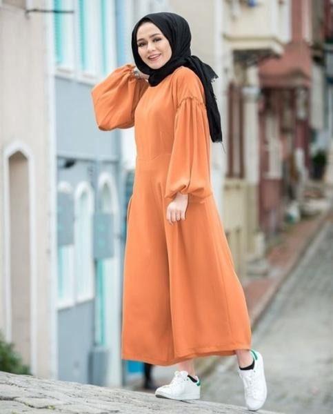 صورة اجمل فساتين المحجبات،زيدى من جمال حجابك مع هذه الازياء 6198 9