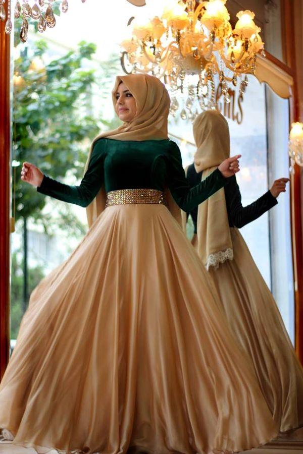 صورة اجمل فساتين المحجبات،زيدى من جمال حجابك مع هذه الازياء 6198