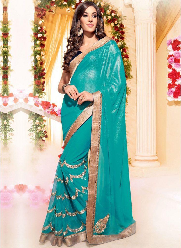 صورة ساري هندي 2019،اجمل الملابس التقليديه بالهند 6227 9